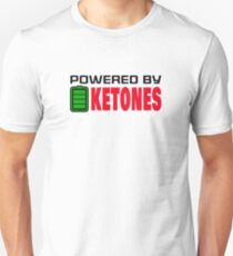 Powered By Ketones For Ketogenic Diet Fans T-Shirt