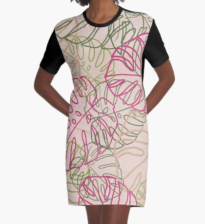 Leaves Graphic T-Shirt Dress