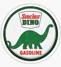 Sinclair Dino Gasoline vintage sign distressed Sticker