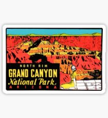 Grand Canyon Arizona National Park Vintage Travel Decal Sticker