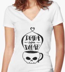 Tod vor Decaf Shirt mit V-Ausschnitt