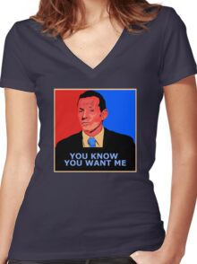 You know you want me Women's Fitted V-Neck T-Shirt