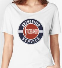 Authorized Studebaker Service vintage sign Women's Relaxed Fit T-Shirt
