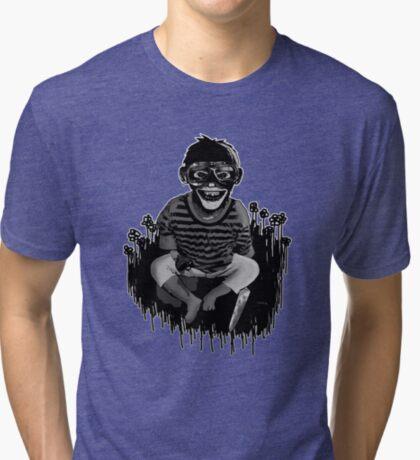 Monkeys ... always up to no good ... Tri-blend T-Shirt