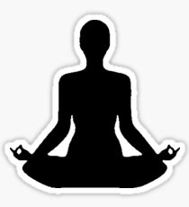 yoga / yogini Sticker