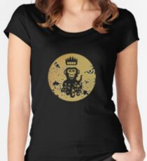 Acid Washed Octochimp Women's Fitted Scoop T-Shirt