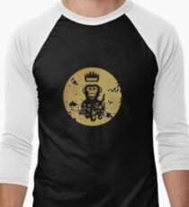 Acid Washed Octochimp Men's Baseball ¾ T-Shirt