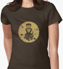 Acid Washed Octochimp Women's Fitted T-Shirt