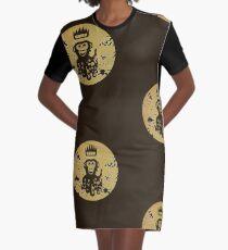 Acid Washed Octochimp Graphic T-Shirt Dress