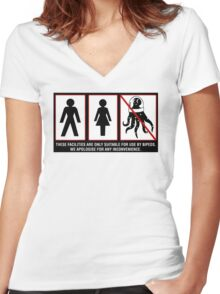 Bipeds Only -sticker Women's Fitted V-Neck T-Shirt