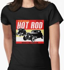 Hot Rod - Classic American Sports Car Women's Fitted T-Shirt