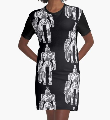 Prawn Soldier Graphic T-Shirt Dress