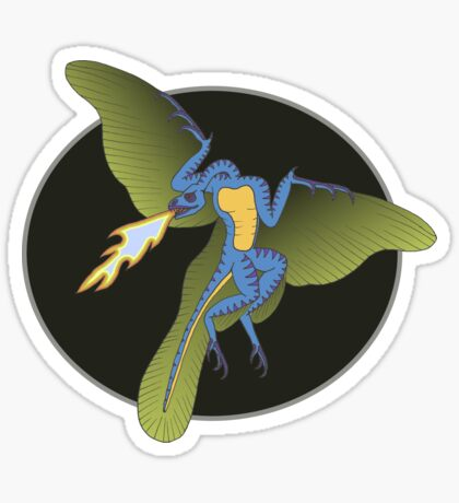 Archaeopteryx (the fire breathing kind) Sticker
