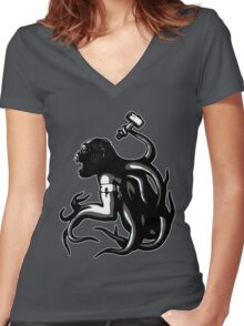 Shud, the last legionary of Simiacle Women's Fitted V-Neck T-Shirt
