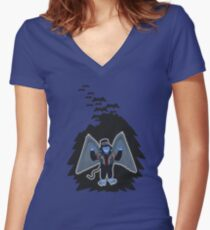 whatever happened to those cute flying monkeys? Women's Fitted V-Neck T-Shirt