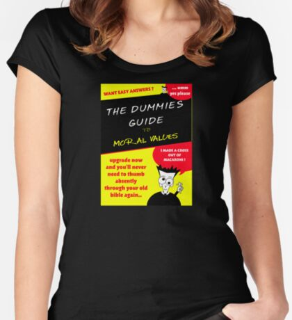 Moral Values for Dummies Women's Fitted Scoop T-Shirt