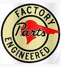 Pontiac Factory Parts vintage sign reproduction Poster
