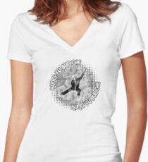 Budgie Style Kung Fu Women's Fitted V-Neck T-Shirt