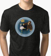 Crane Style Versus Monkey Fist Tri-blend T-Shirt