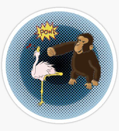 Crane Style Versus Monkey Fist Sticker