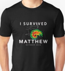 Hurricane Matthew New Tee I Survived Hurricane Matthew 2016 Unisex T-Shirt