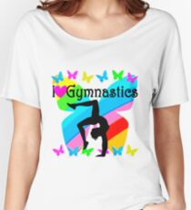 LOVELY I LOVE GYMNASTICS DESIGN Women's Relaxed Fit T-Shirt