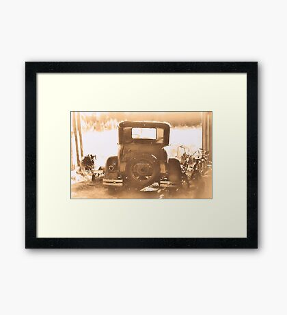"""""""Tin Lizzie... Rear View""""... prints and products Framed Print"""