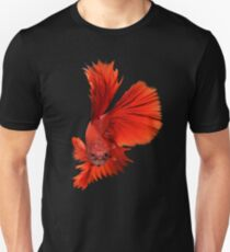 Red Fighting Fish Unisex T-Shirt