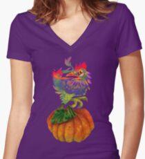 PET MONSTER - MONSTER CHOOK Women's Fitted V-Neck T-Shirt