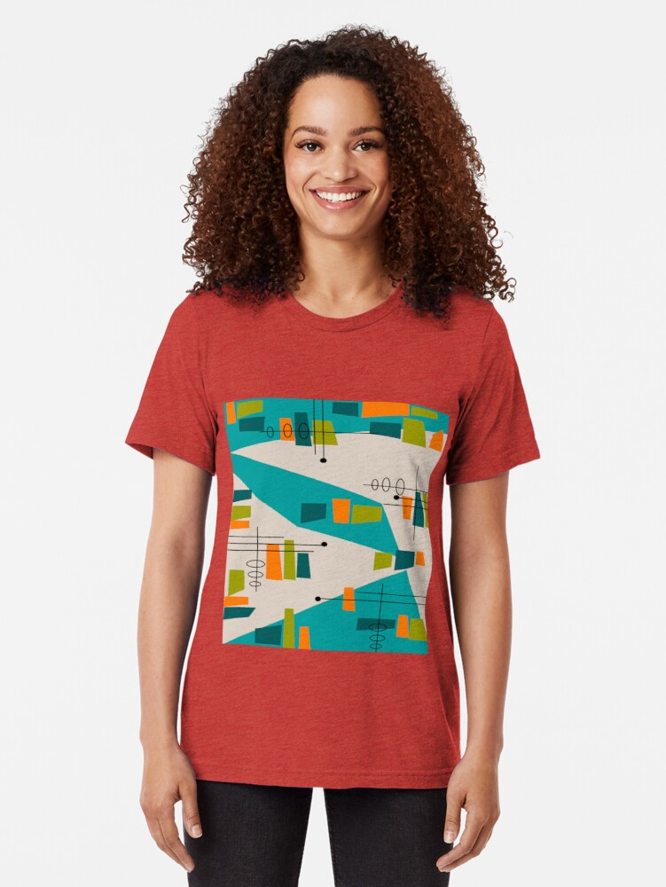 Alternative Ansicht von Mid-Century Modern Abstrakt Space Age Vintage T-Shirt