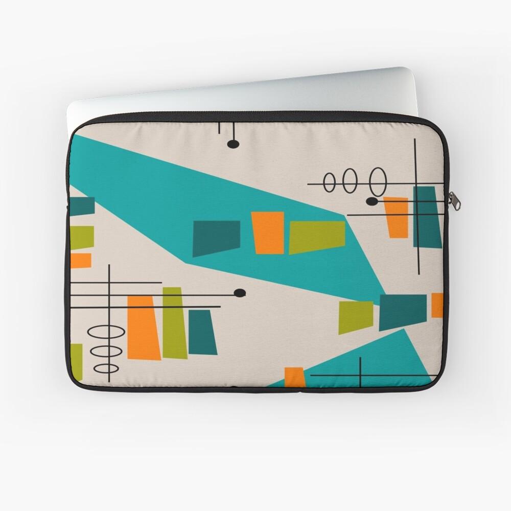 Mid-Century Modern Abstrakt Space Age Laptoptasche