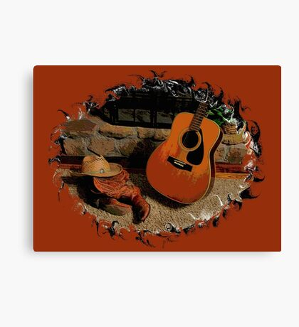 """""""Leather, Wood, Strings, and Straw""""... prints and products Canvas Print"""