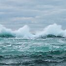 Crashing wave by TJLewisPhoto