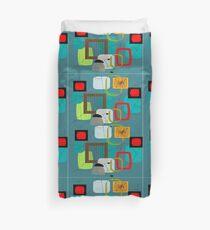 Mid-Century Moderne abstrakte Kunst III Bettbezug