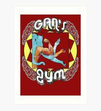 Gan's Gym - vintage Art Print