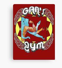 Gan's Gym - vintage Canvas Print