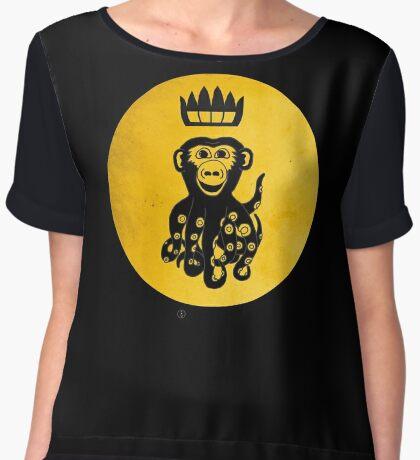 King Octochimp Says Hi Women's Chiffon Top