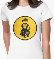 King Octochimp Says Hi Women's Fitted T-Shirt