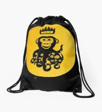 King Octochimp Says Hi Drawstring Bag