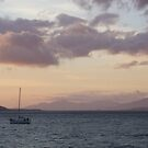 Salen Pier, sleeping sailboat by TJLewisPhoto