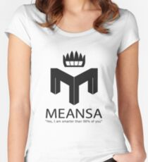 meansa Women's Fitted Scoop T-Shirt
