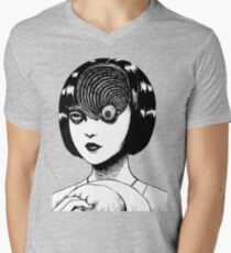 Woman With Special Eyeball Men's V-Neck T-Shirt