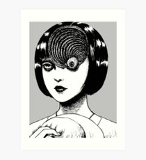 Woman With Special Eyeball Art Print