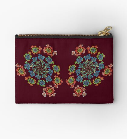 Flowers #Fractal Art Zipper Pouch