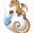 Baby Dragon by whiterabbitart