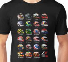 Formula 1 2016 drivers helmets all Unisex T-Shirt