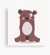 Cute brown bear Canvas Print