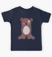 Cute brown bear Kids Tee