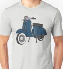Vespa Illustration - Blue Unisex T-Shirt