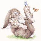 Butterfly Rabbit by whiterabbitart